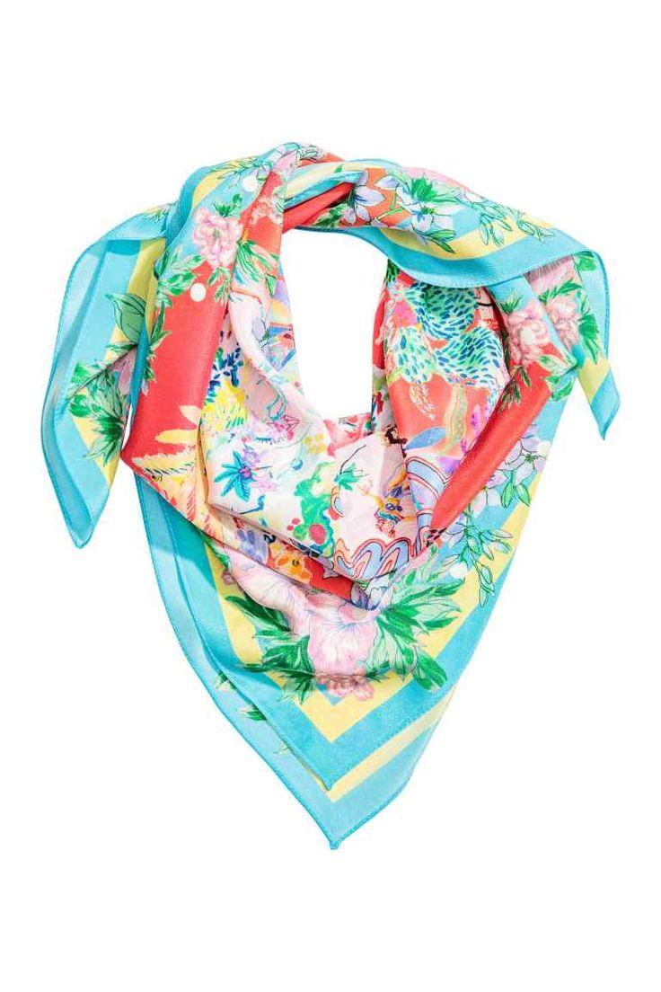 Fular estampado de seda - Coral - MUJER | H&M ES 1