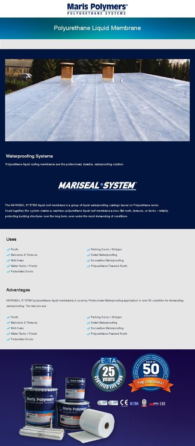 Liquid Roofing Membrane - Maris Polymers Polyurethane liquid roofing membranes are the professional, durable, waterproofing solution. #constructions #polyurethane #protection #marispolymers #flooringsystems #liquidroofingmembrane #waterproofing