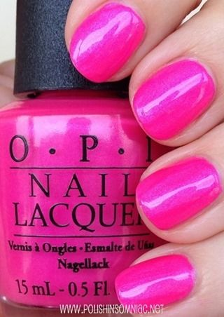 OPI:  ♥ Hotter than You Pink ♥  from the Summer Neon Collection Summer 2014 ... great hot pink polish
