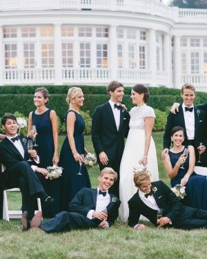 """""""We kept going back to this old-world elegance,"""" the bride says of the décor at this ultimate house party in Newport, Rhode Island. """"We wanted it to feel like you were at a coastal estate, regardless of place or time."""""""