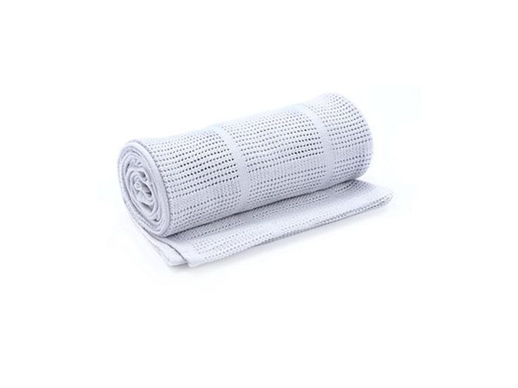mothercare cot or cot bed cotton cellular blanket - grey