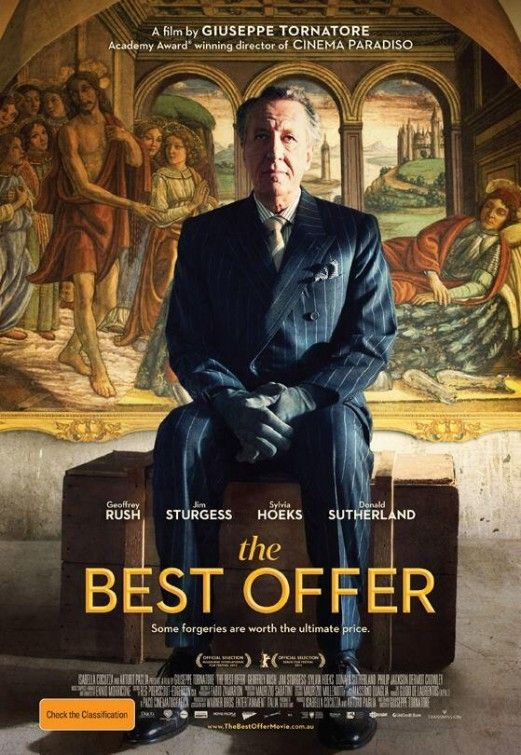 """The Best Offer.""  Geoffrey Rush is on this Cover! ;)"
