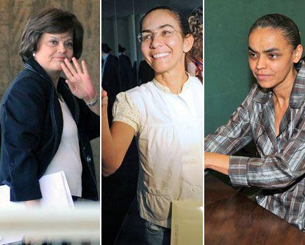 """(Da esq. para a dir.: Dilma Rouseff, Heloísa Helena... e... Marina Silva!!!,-) ...""""O ano de 2010 poderá ser o ano das mulheres presidenciáveis no Brasil"""", dizia um artigo publicado no site ..."""