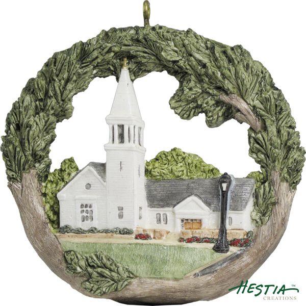 St. Theresa of Lisieux Parish in Sherborn, Massachusetts sculpted ornament by Hestia Creations. #hestiacreations #customgift #marbleheadma #StTheresaofLisieuxParish #Sherbornmama