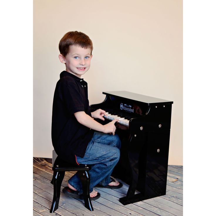 Schoenhut 25 Key Black Traditional Spinet Piano - 6625B