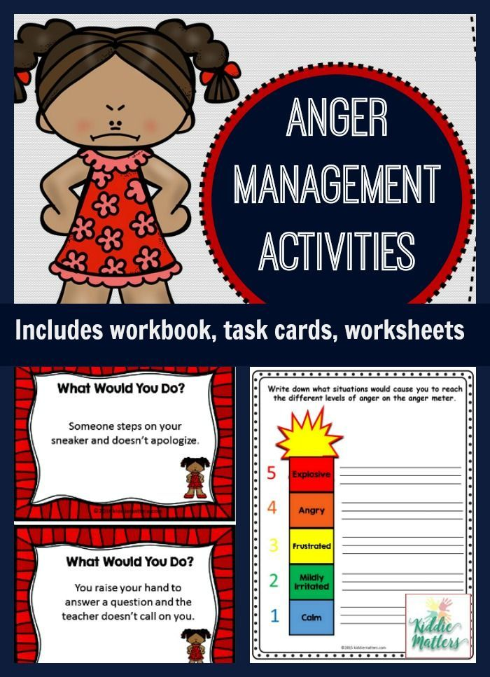 Teach kids coping skills to manage their anger and frustration with this anger management activity bundle loaded with worksheets and activities!