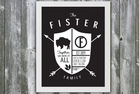 A modern family crest                                                                                                                                                     More