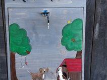 Holzbriefkasten Hunde
