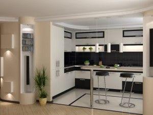 Дизайн барная стойка на кухне
