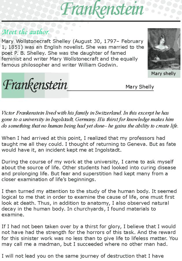 secrecy essay on frankenstein Frankenstein themes essays discuss mary shelley's novel frankenstein and analyzes it's themes in the drive and secrecy with which he created this thing.