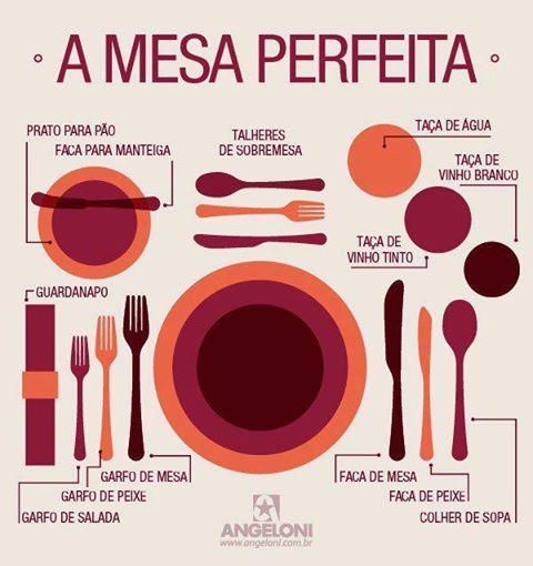 Amamos essa dica de como organizar pratos, talheres e guardanapo à mesa.
