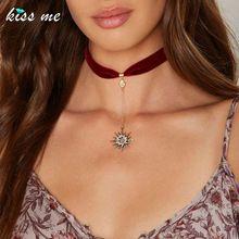 BEIJE-ME Moda Estrelas De Cristal Vermelho Pingente Colar Gargantilha Fita Hot Sale Mulheres Acessórios de Jóias(China (Mainland))