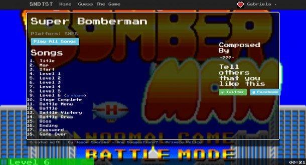 EnSNDTSTtienen una colección increíble de música de todos los Videojuegos Retro como Bomberman y Megaman, que puedes escuchar en linea o descargar