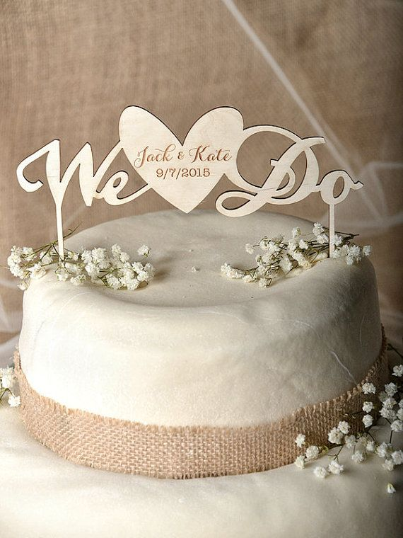 Rustic Cake Topper Wood Cake Topper Heart by forlovepolkadots $35