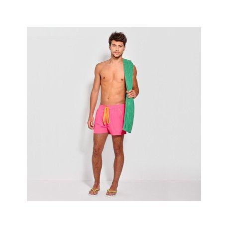 Toalla de baño y playa, ORLY Referencia  7100 Marca:  Roly  Descripción  Toalla de baño y playa, remallado con filamento de poliéster a tres hilos mismo tono. Adorno de elástico para su recogimiento.