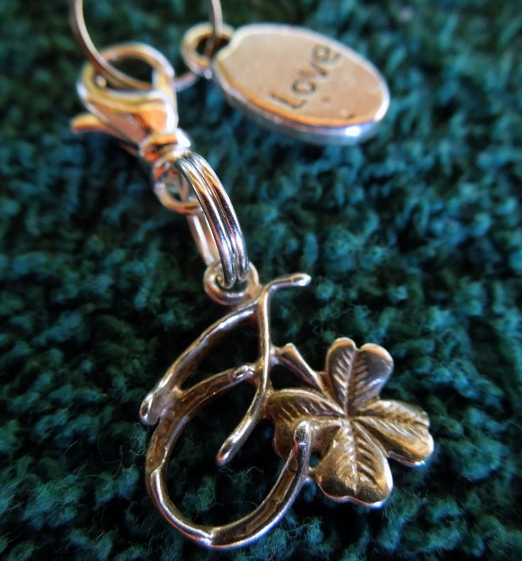 Sterling Silver 925 bridle charm or saddle charm, horse shoe, clover, wish bone. by MHAFARMS on Etsy