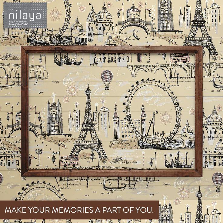 Let your imagination travel. #Nilaya #Travel #Paris #WallCovering #Wall #HomeDecor #Memories