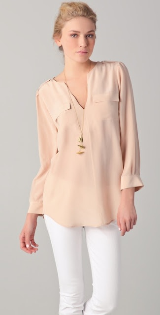 Joie Marlo Blouse. Love for fall with skinny jeans.