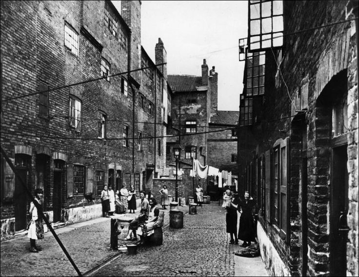 A Back Street In A Slum Area Of London 1 January 1925