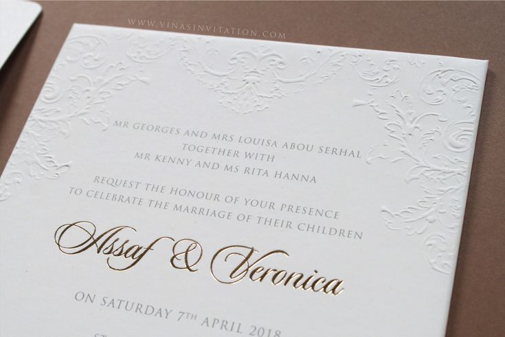 vinas invitation. australian wedding. pure white. blind emboss. emboss invitation. custom invitation. wedding invitation. simple invitation.  any question pls visit www.vinasinvitation.com. courtesy of Assaf & Veronica