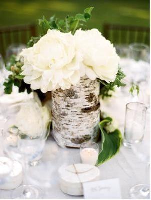 Bark covered vase