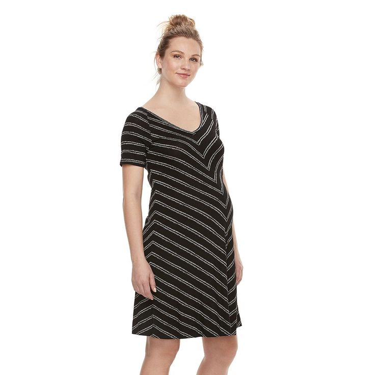 Maternity a:glow Swing T-Shirt Dress, Women's, Size: Xxl-Mat, Black