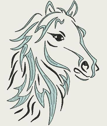 Wild Horse (Med 220 x 220) by Judean888 on Etsy