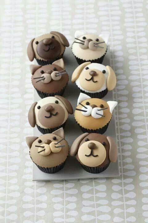 Creative puppy n kitty cupcakes