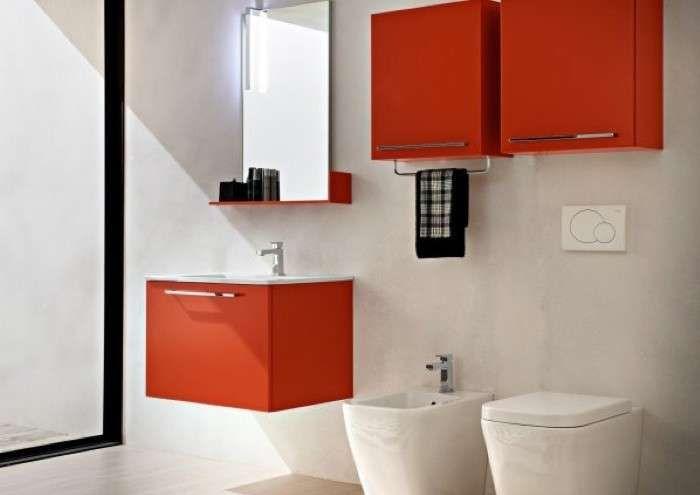 Arredo Bagno Design Piccolo : Arredare un bagno piccolo quadrato bagno con arredi arancio