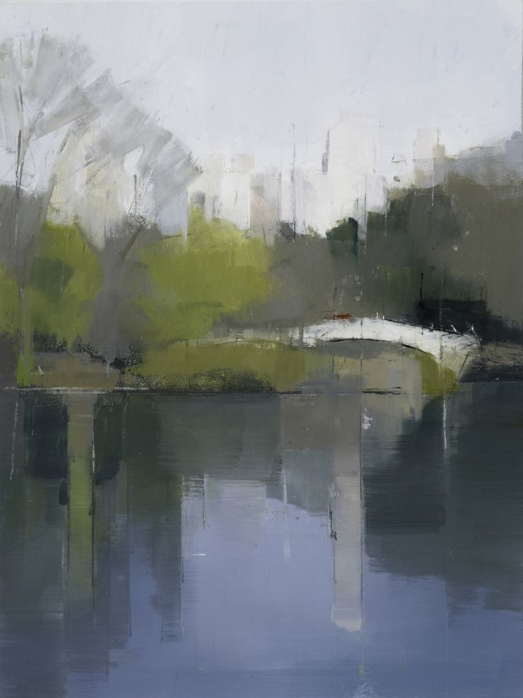 Lisa Breslow - Central Park Lake 3   From a unique collection of paintings at http://www.1stdibs.com/art/paintings/