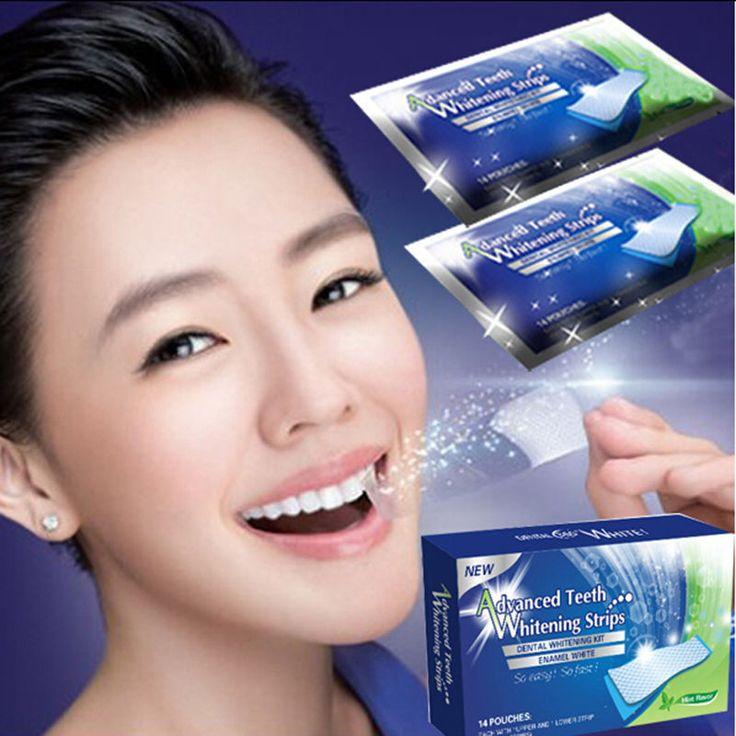 14packs/box Teeth Whitening Strips Oral Hygiene Dental Care Bleaching 6% Hydrogen Peroxide Gel Tooth Whiter Strips | Price: US $4.01 | http://www.bestali.com/goto/2036544640/10