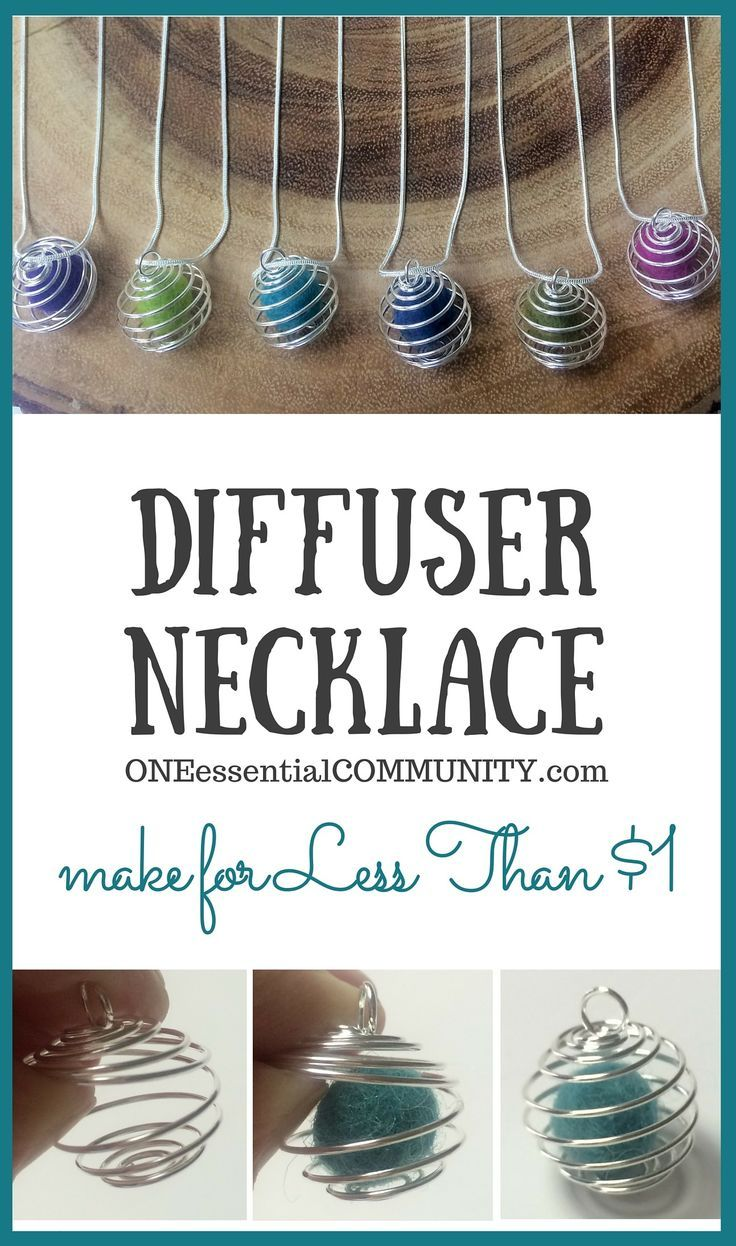 Make your own essential oil diffuser necklace for less than 1 buck each and in less than 1 minute!!