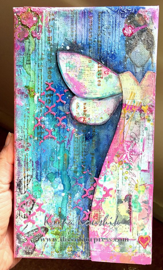 the Colour Press: Mixed media canvas - Video tutorial - FLY