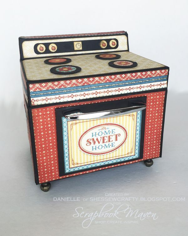 Oven Recipe Box, Home Sweet Home, by Danielle Copley, product by Graphic 45, photo 1