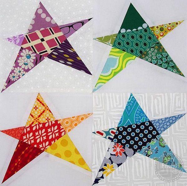 Confetti Start Quilt Block - Pattern on www.craftsy.com                                                                                                                                                                                 More