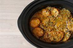 Receta de patatas a la importancia en Crock Pot. Receta paso a paso con imágenes y recomendaciones de elaboración. Recetas y…