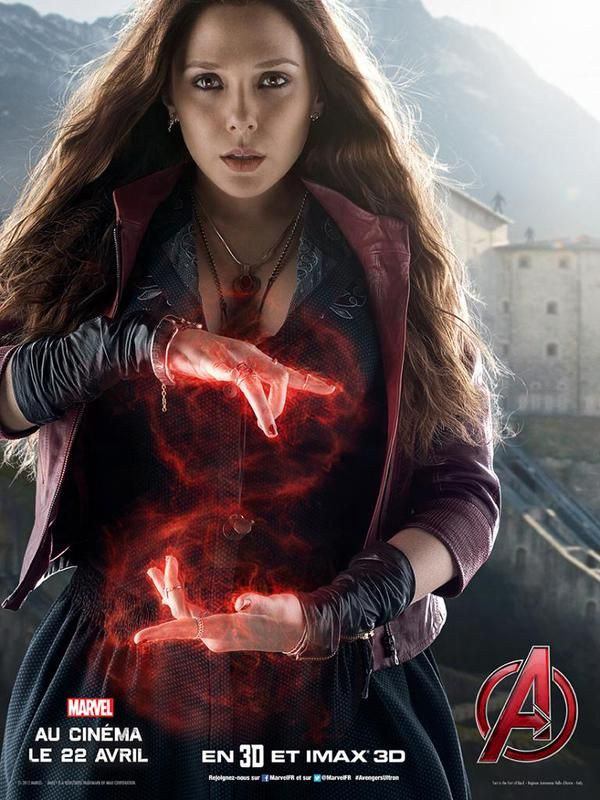 Scarlet Witch affiche Avengers 2