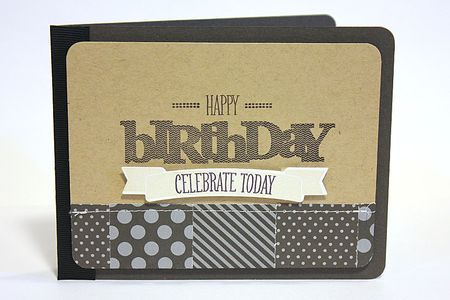 Happy Birthday Banner Card by Heather Nichols for Papertrey Ink (March 2013)