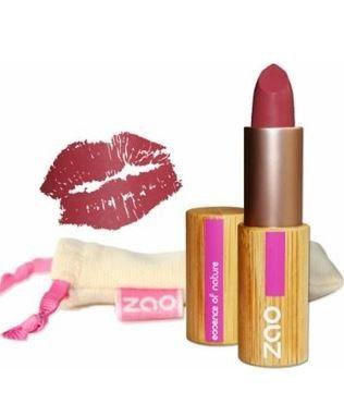 Matte lippenstift - 4 tinten Zao #amanprana #noblehouse #amanvida #zao #lippenstift #roos #natuurlijk