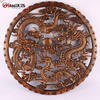 Dongyang ahşap oyma kafur ahşap heykel teknoloji çin tarzı antika yuvarlak muons yün