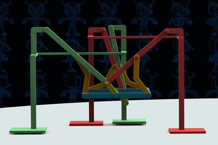 Walking Quadruped Machine - Parasolid,AutoCAD,SOLIDWORKS - 3D CAD model - GrabCAD