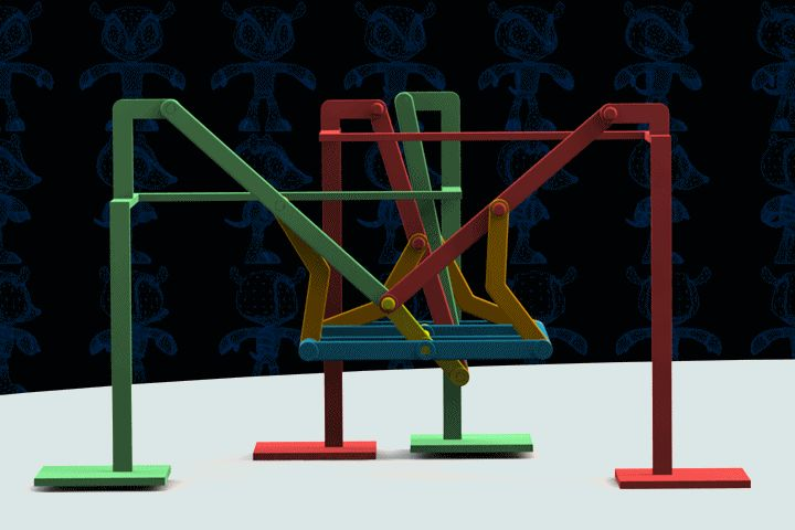Walking Quadruped Machine - Parasolid,AutoCAD,SOLIDWORKS - 3D CAD model - GrabCAD