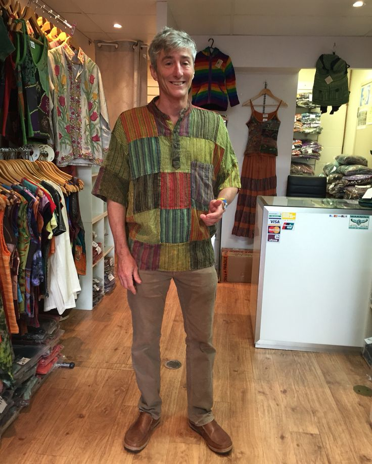 David is looking super cool with this top seller patchwork Kurta Shirt  #NepaleseClothing #HippieClothing #Pashmina #Felts