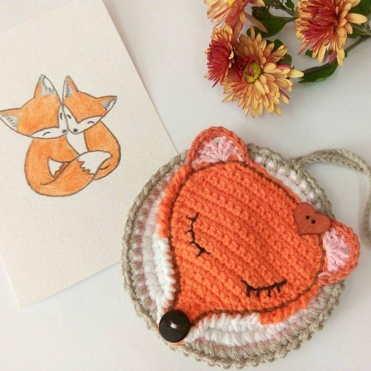 "Olena Fesiun (@f_olenka) na Instagramu: ""Autumn mood . Thanks for inspiration to @vendulkamcrochet  . #autumn, #crochetfox, #watercolor,…"""