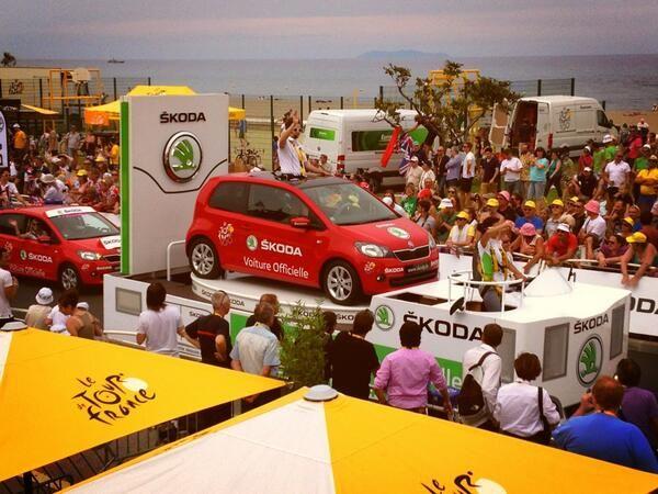 Participez au jeu Tour de France et tentez de remporter la Škoda Citigo de la caravane ! http://www.skoda.fr/page/jeu-tourdefrance2013 #Skoda #Citigo #Caravane #CaravaneDuTour #TDF #TDF13 #TDF100 #TourDeFrance