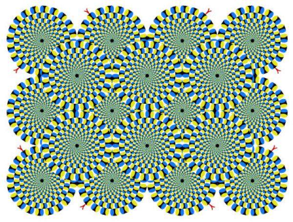 Rotating Snakes optical illusion by Akiyoshi Kitaoka