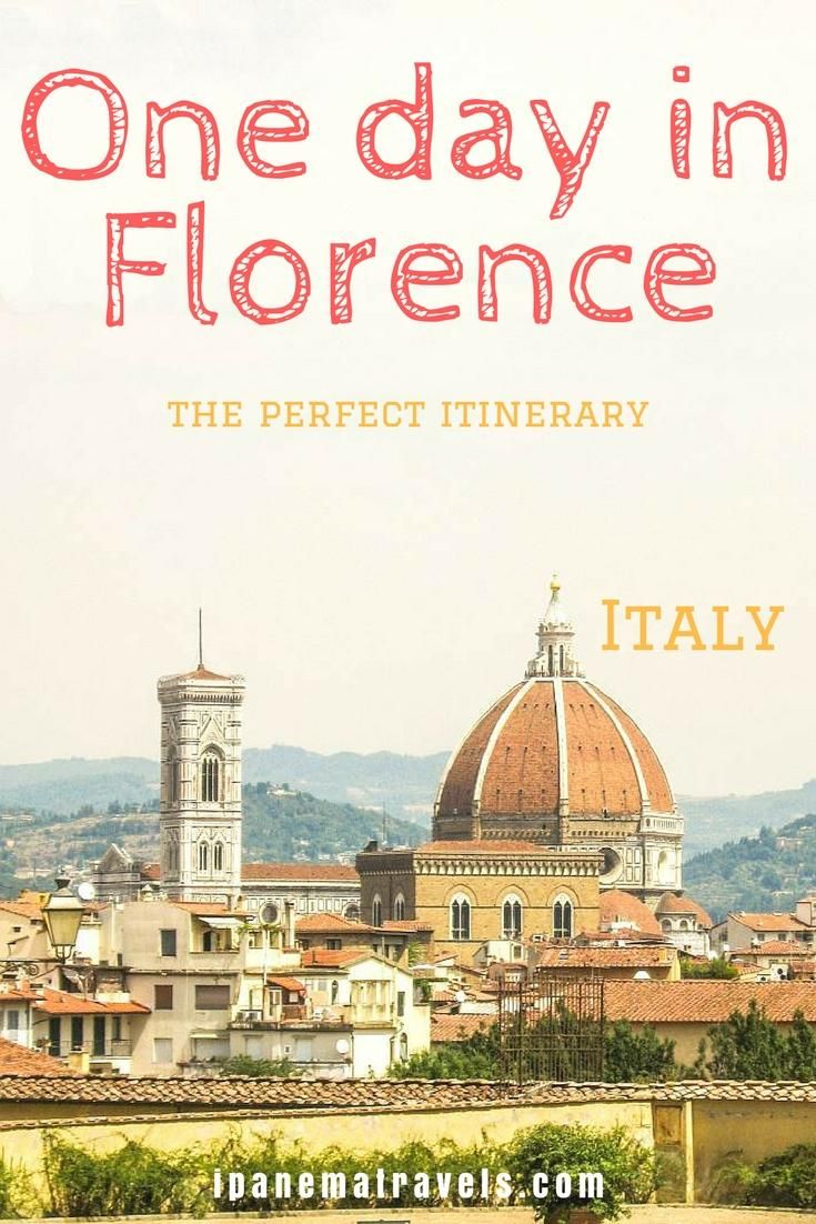 Discover Florence with this one-day itinerary! See all major attractions in Florence in 24 hours with this Florence city travel guide. All things to do and see in Florence in a day. Self-guided tour of Florence along the most famous landmarks of Florence.  #Florence #Tuscany #Italy #ItalyTravel #VisitFLorence #Firenze #Toscana via @ipanemat