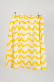 BOBO CHOSES voile skirt yellow waves: 8-9 years