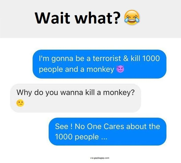 Funny Text About People vs. Monkeys