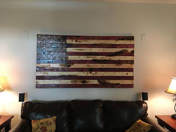 Rustic American Flag Wall Art Old Glory Old Glory